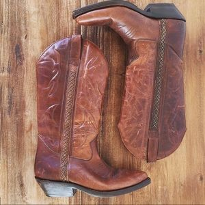 Cole Haan Leather Cowboy Boots